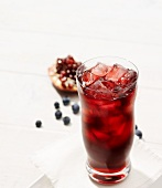 Pomegranate juice with blueberries