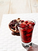 Pomegranate juice with cranberries