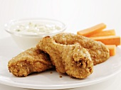 Breaded chicken wings, Southern-style