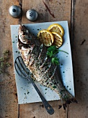 Barbecued bass