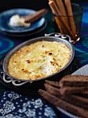 Savoury quark bake with cheese
