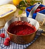 Hot raspberry sauce
