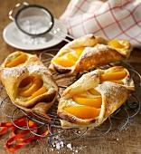 Peach danish pastries