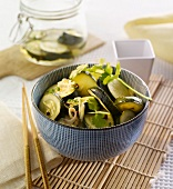 Asian-style pickled courgette slices