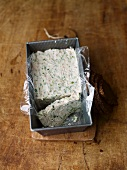 Trout terrine in a loaf tin