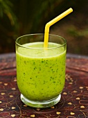 A green tea and spinach smoothie