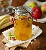 Apple and walnut jam