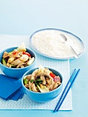 Honey Soy Chicken and Mushroom Stir-fry