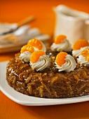 Mandarin and orange cake