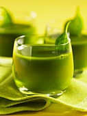 A herb drink with basil
