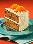 Marmalade and nut cake with cream cheese icing