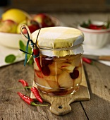Apple compote with chilli
