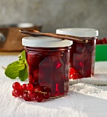 Cherries in redcurrant juice