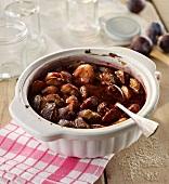 Stewed plums