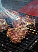 Bistecca fiorentina (barbecued T-bone steaks, Italy)