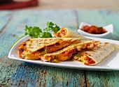 Quesadillas filled with chicken