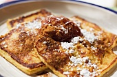 Poor Knights of Windsor; French Toast with Powdered Sugar and Cinnamon