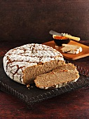 Rye bread, partly sliced