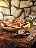 Gluten-free potato and four-grain bread with olive oil