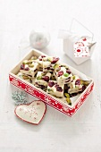 Cranberry and pistachio sweets