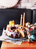 Roscón de reyes (Christmas cake, Spain)