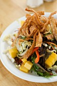 Mixed Salad with Mango and Fried Dough Strips