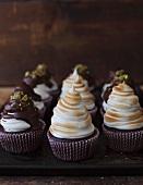 Kaffee-Cupcakes mit Irish Cream Likör und Marshmallow-Haube
