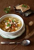 A Bowl of Salmon Soup