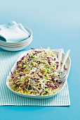 Cabbage salad with sour cream dressing