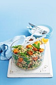 Couscous salad with roasted squash