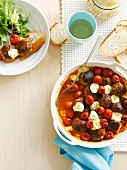 Baked lamb meatballs with bocconcini