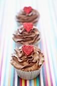 Chocolate Valentines Cupcakes