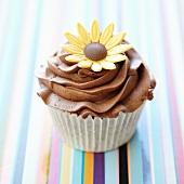 Chocolate daisy Cupcake