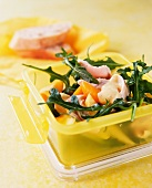 Fruity chicken salad in a lunch box