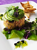 Shrimp tartar with cucumber