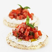 Tomato and Basil rice crackers