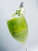 Ein Glas Melon Martini