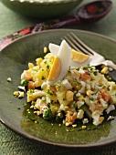Polish vegetable salad editorial food