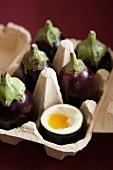 Aubergine, eggplant /egg yolk