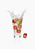 Strawberry lime splash