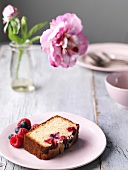 Red Berry fruit cake