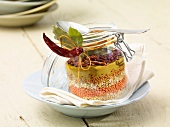 Lentil soup mix in a jar