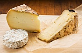 Three types of French cheese