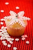 A Snowflake Cupcake
