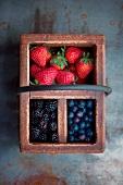 Fresh Berries in a Vintage Box