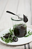Pickled black garlic