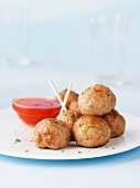 Turkey meatballs with chilli dip
