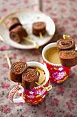 Schokoladenpfannkuchen mit Spekulatius-Creme