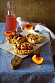 Rustic peach and almond pie