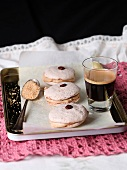 French macarones and espresso